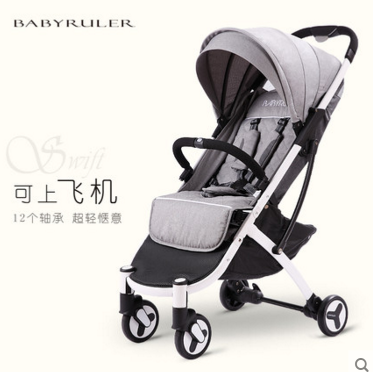babyruler婴儿车推车可坐可躺超轻便携式折叠迷你小儿童宝宝伞车