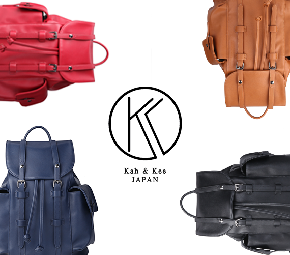 日本专柜高级丝滑双肩包 低奢kah&kee 防水超轻大容量女士背包包