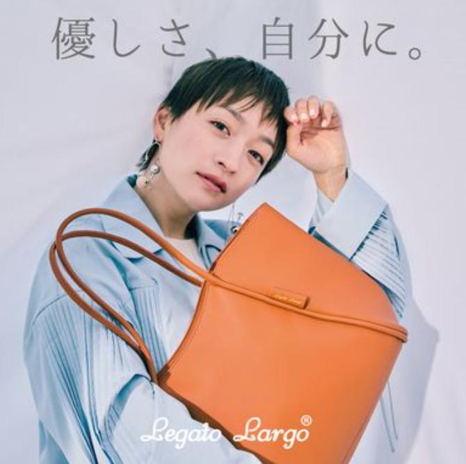 日本legato largo 超正 PU轻便多分格手提包单肩包