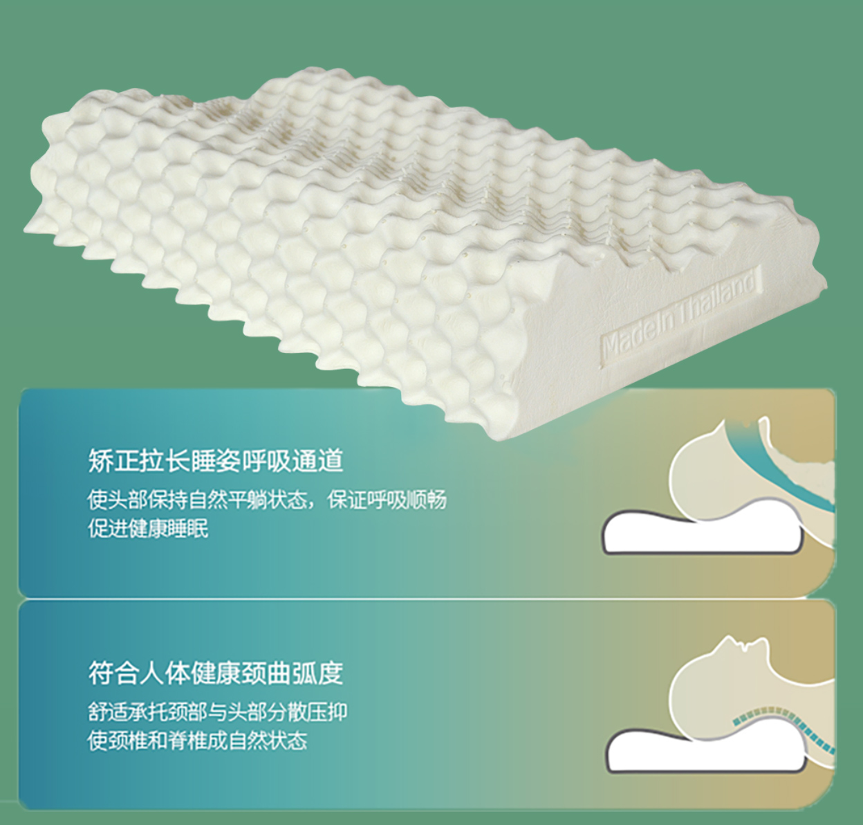 suofei索斐泰国原装进口天然乳胶床垫枕头